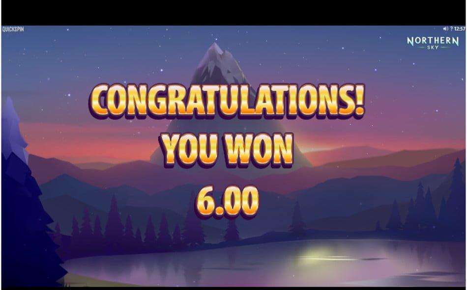 northern sky slot win