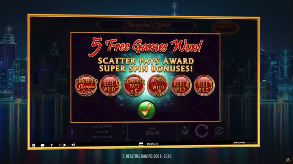 shanghai lights slot by realtime gaming