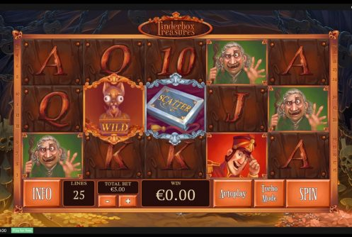 tinderbox treasures slot by playtech