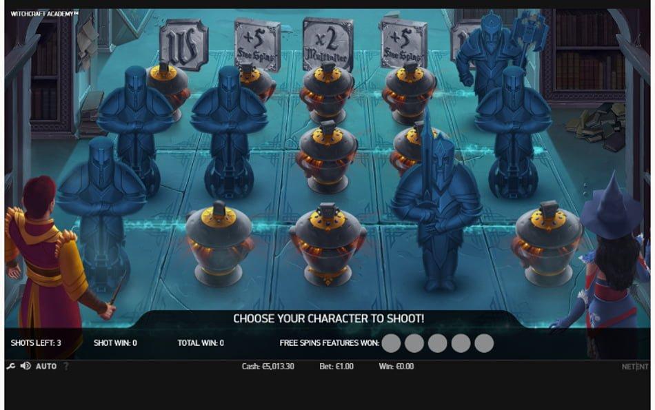 witchcraft academy slot free spins