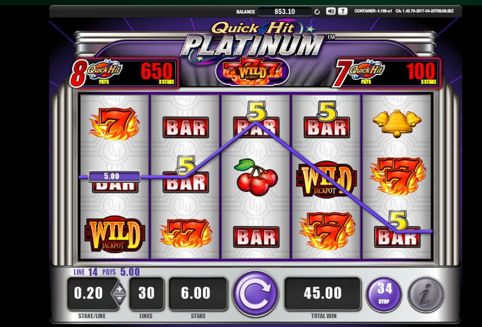 quick hit platinum slot by bally