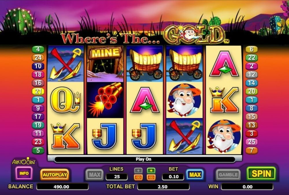 wheres the gold slot by aristocrat