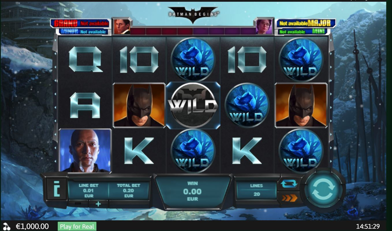 batman begins slot by playtech
