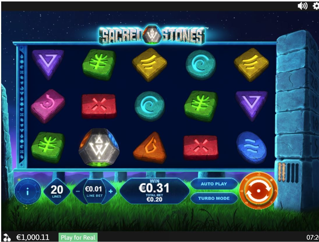 sacred stones slot by playtech