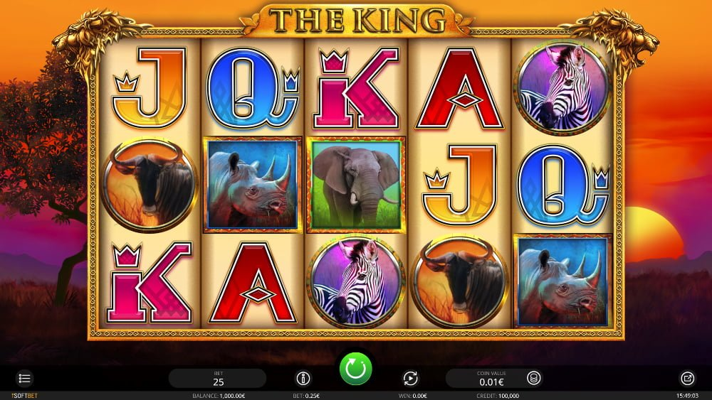 the king slot by isoftbet