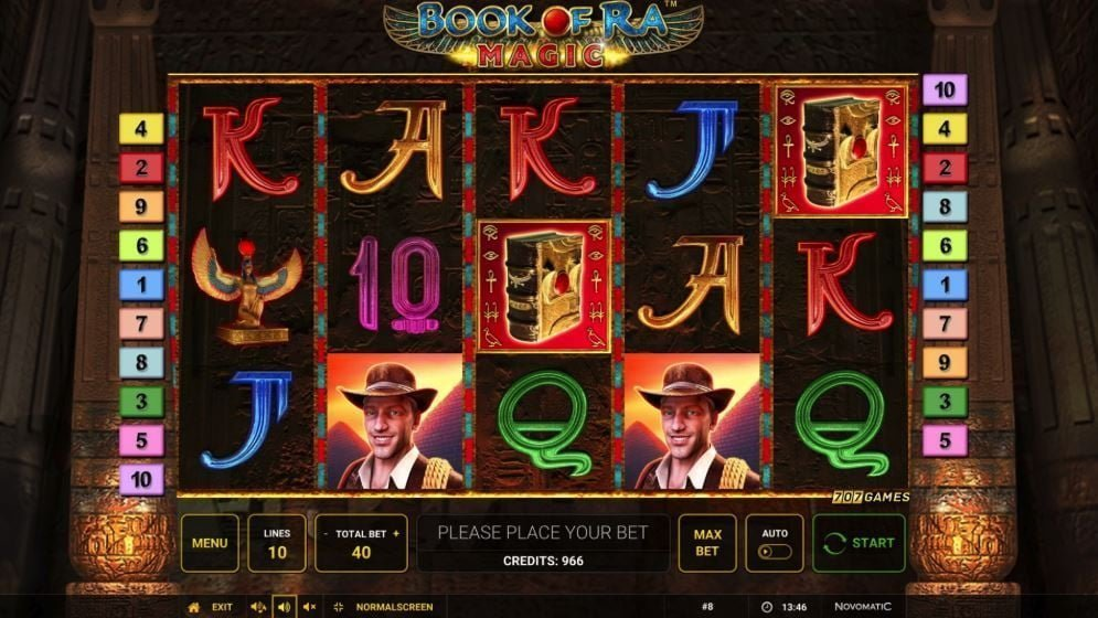 book of ra magic slot by novomatic