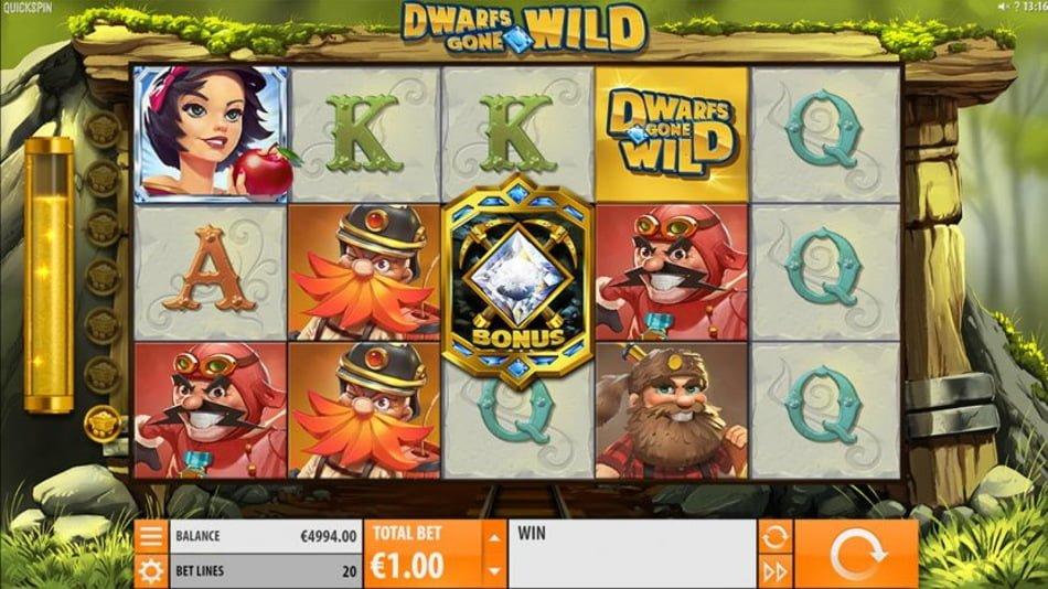 dwarfs gone wild slot by quickspin