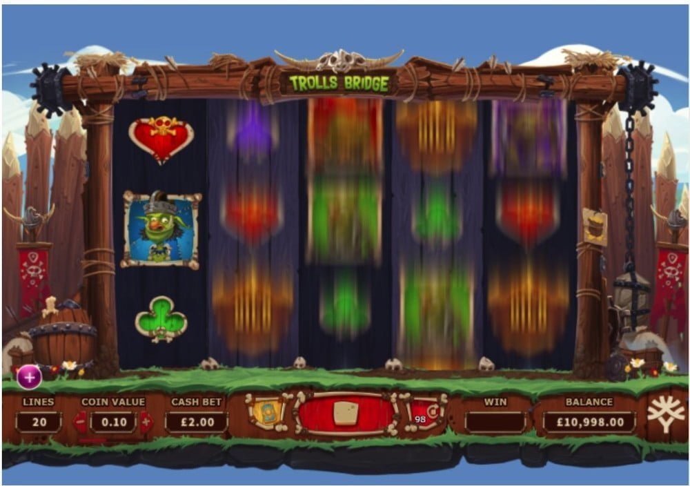 trolls bridge slot by yggdrasil gaming