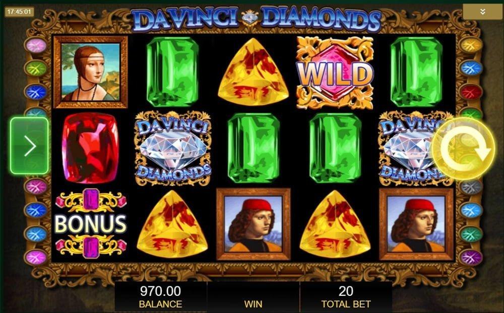 davinci diamonds slot by IGT