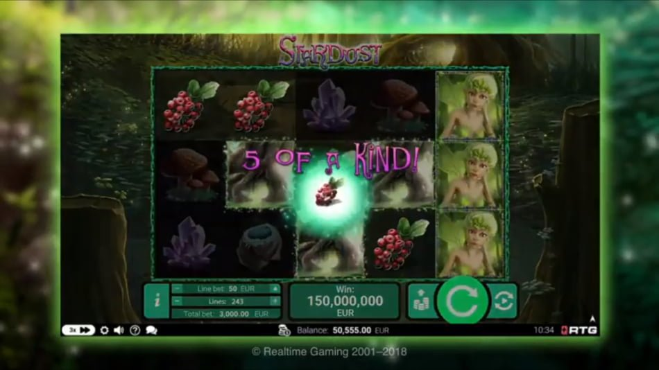 stardust slot by RTG