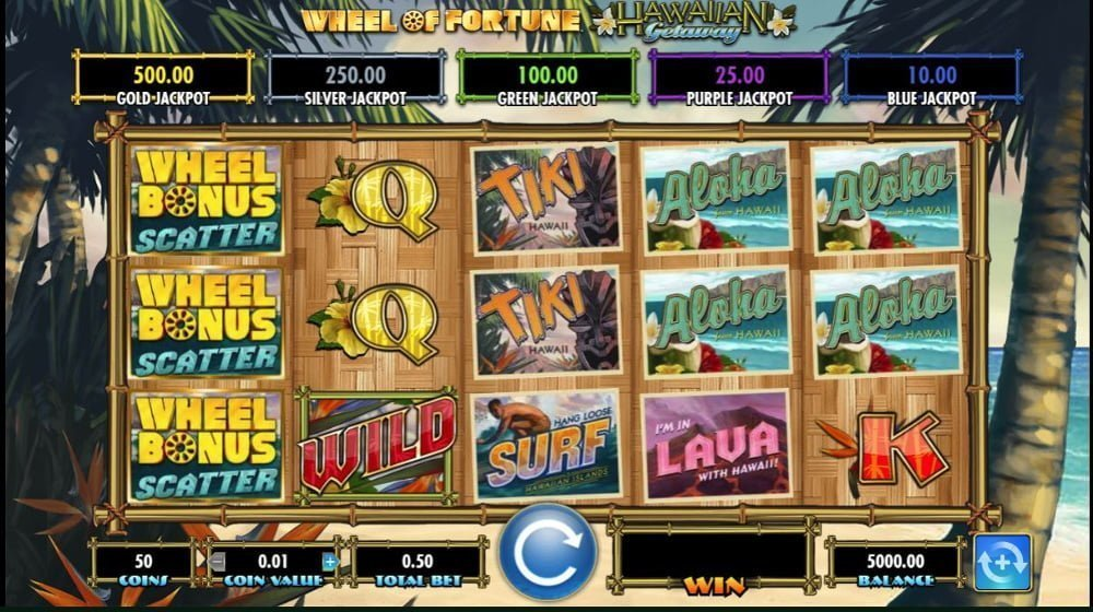 wheel of fortune hawaiian getaway slot by igt