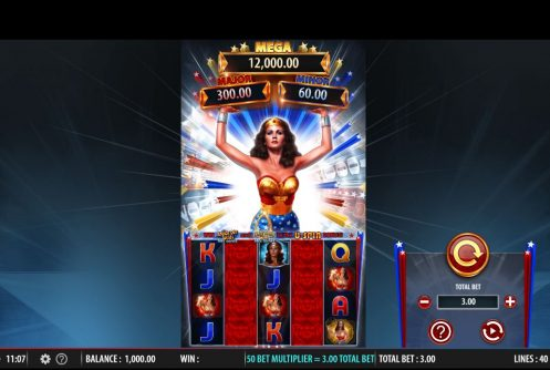 wonder women bullet & bracelets slot by bally