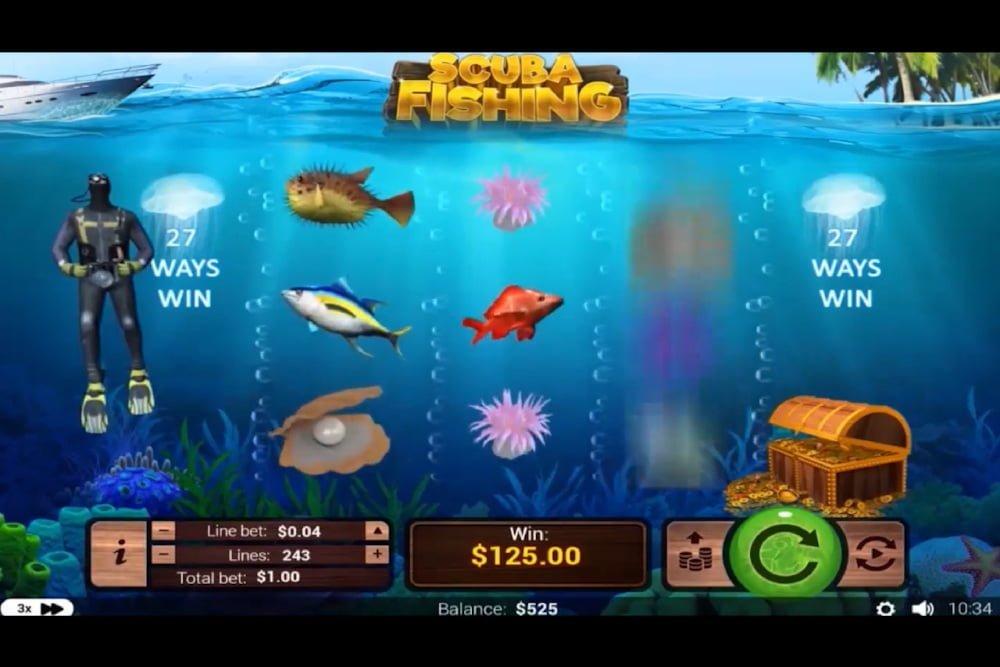 scuba fishing slot by rtg