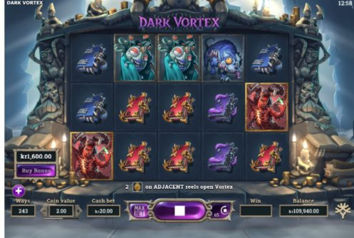 dark vortex slot by yggdrasil