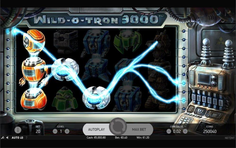 wild o tron slot by netent