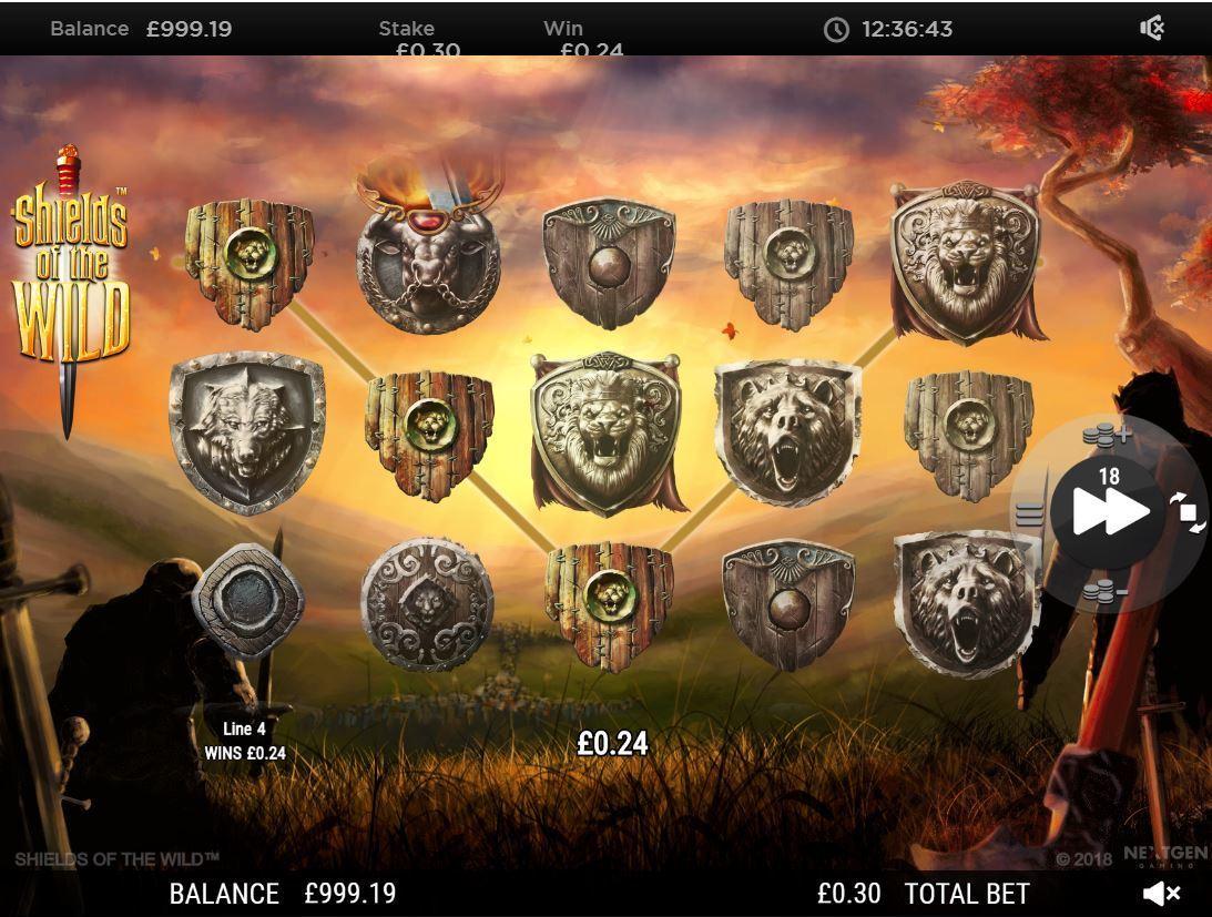 shields of the wild slot by nextgen