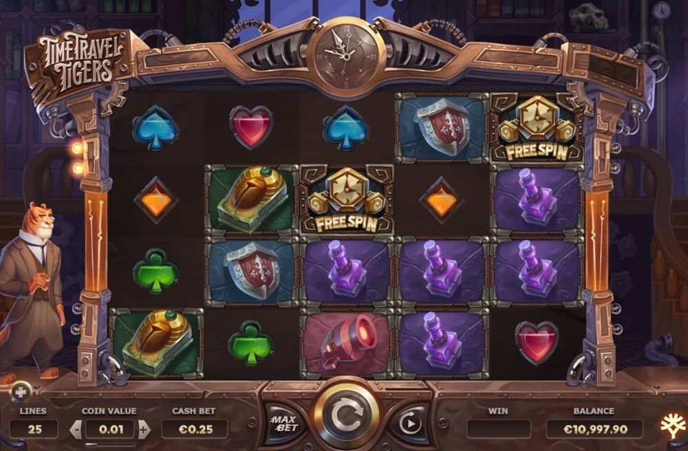 time travel tigers slot by yggdrasil