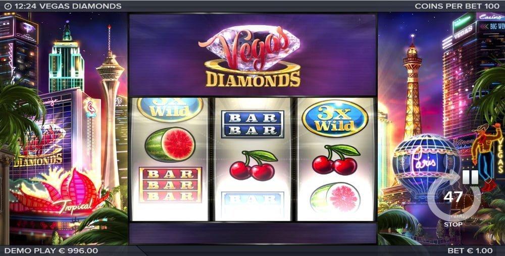 vegas diamonds slot by elk studios