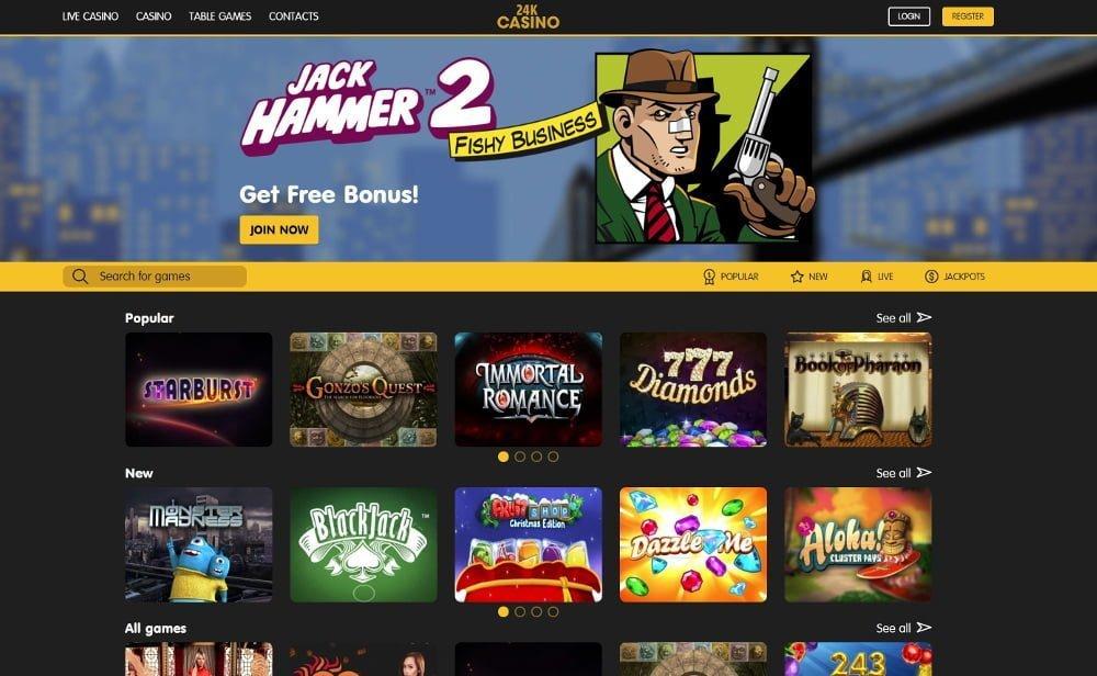 24k bitcoin casino