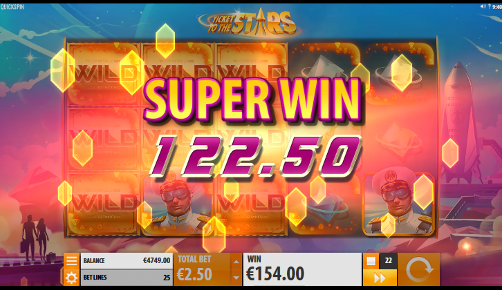 ticket to the stars slot by quickspin
