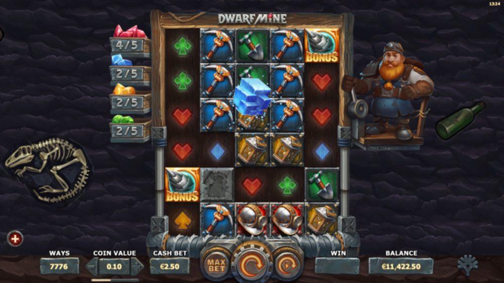 dwarf mine slot by yggdrasil