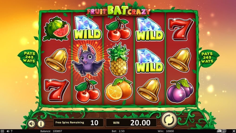 fruitbat crazy slot by betsoft
