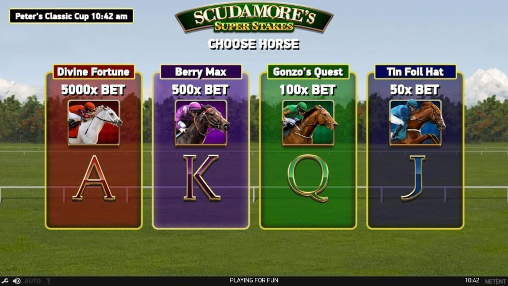 scudamores super stakes slot by netent