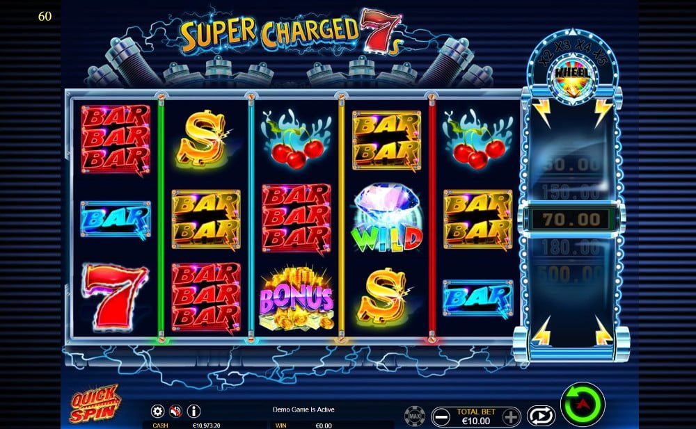 super charged 7s slot by microgaming