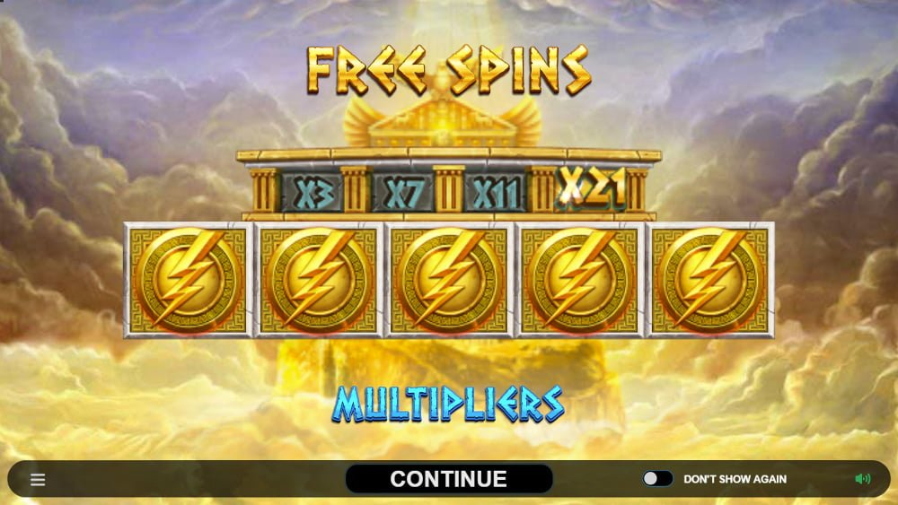 ancient fortunes zeus slot by microgaming