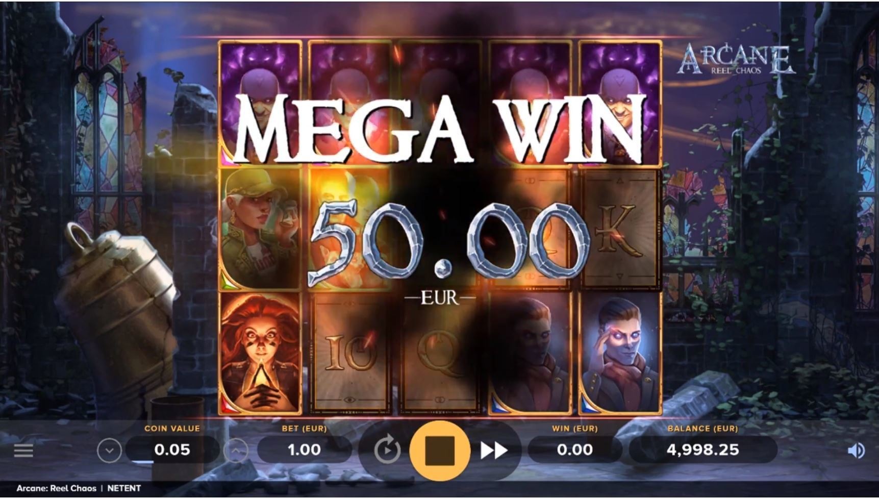 arcane reel chaos slot by netent