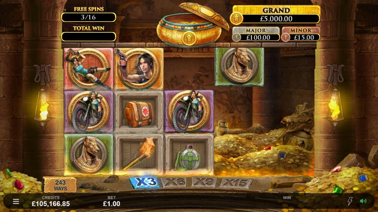 lara croft temple and tombs slot by netent