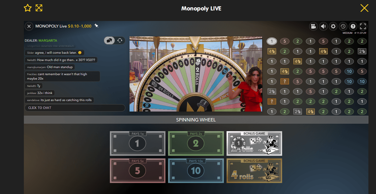 how to play monopoly live casino dream catcher