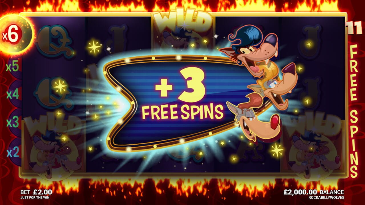 rockabilly wolves slot by microgaming