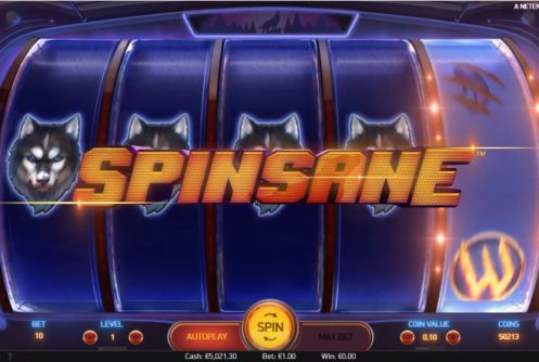 spinsane slot by netent