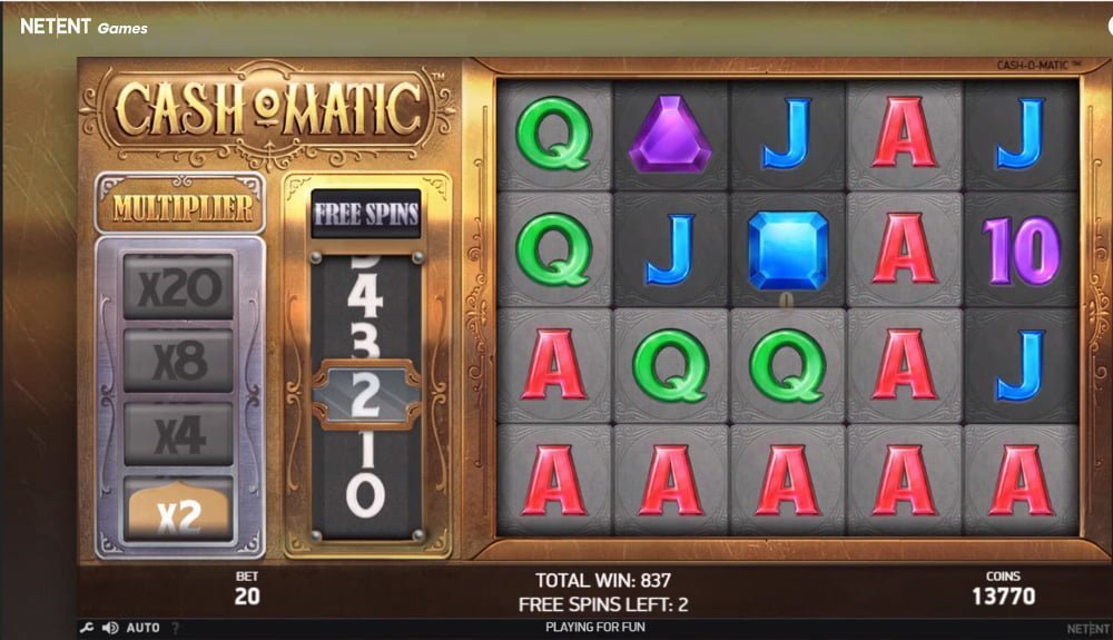 cash o matic slot by netent