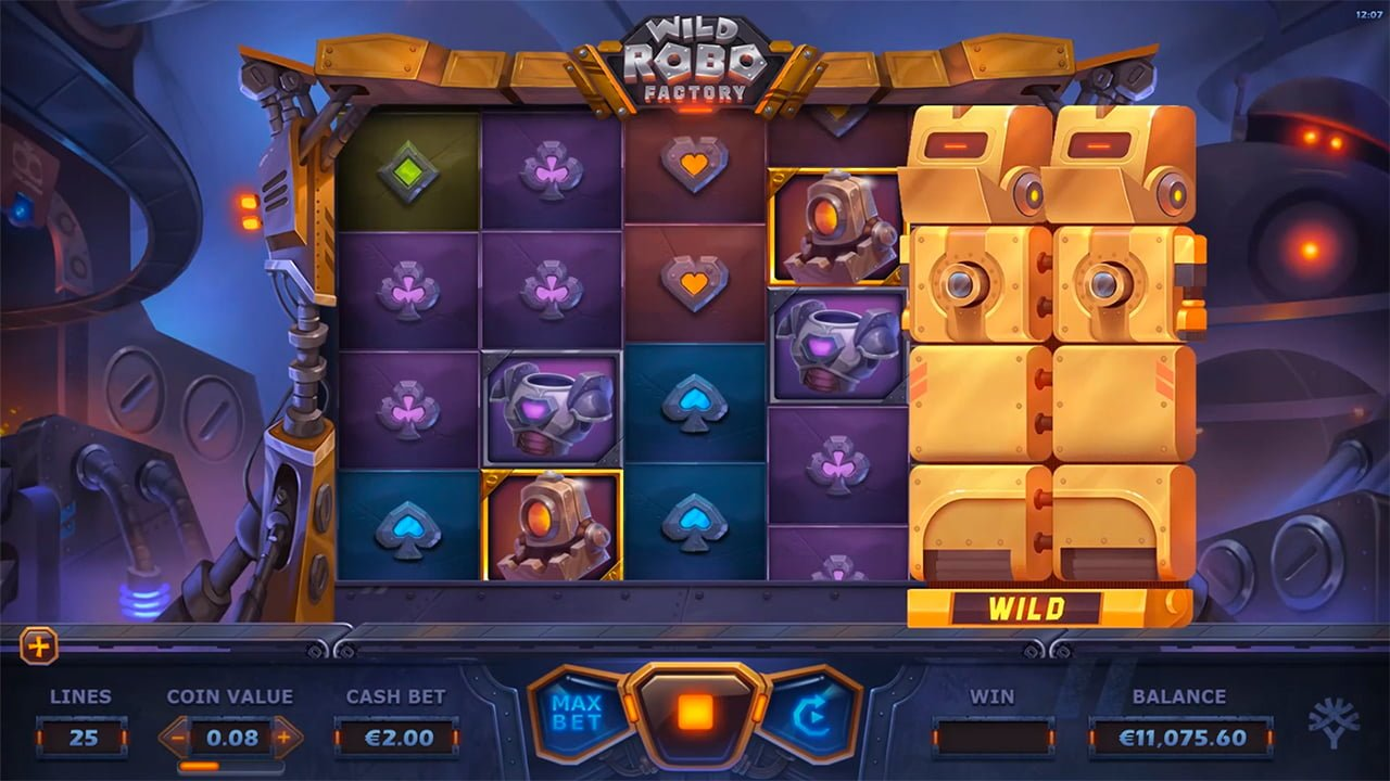 wild robo factory slot by yggdrasil