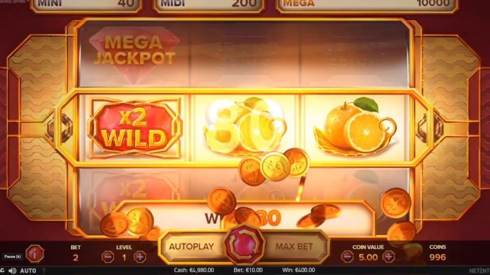 grand spinn slot by netent