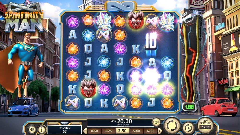 spinfinity man slot by betsoft