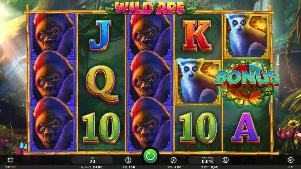 wild ape slot by isoftbet