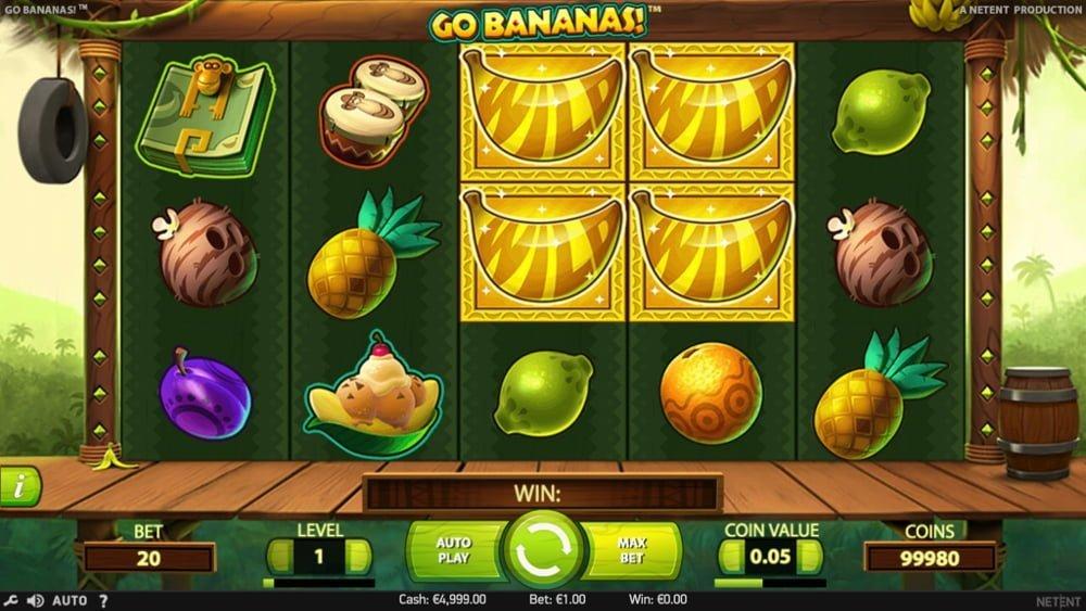 go bananas slot by netent