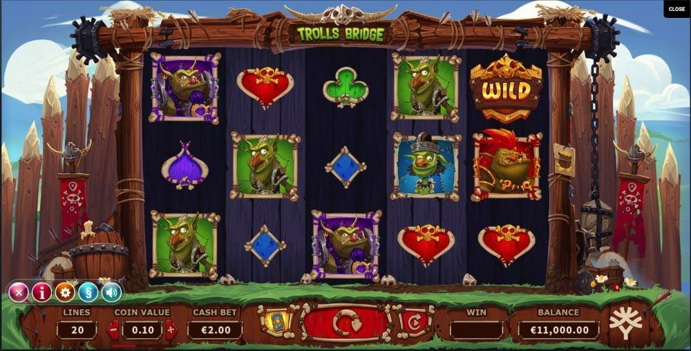 trolls bridge slot by yggdrasil