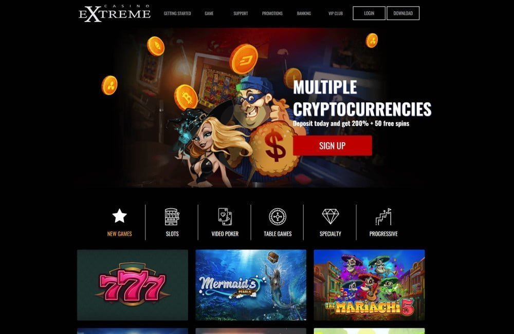 instant bitcoin deposits with casino extreme