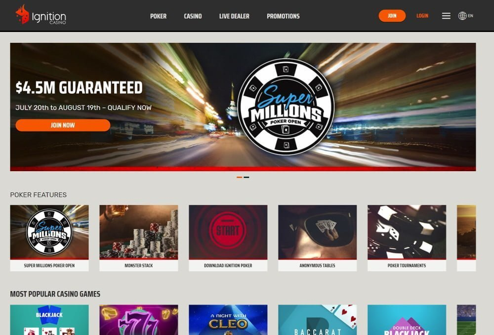 ignition casino games