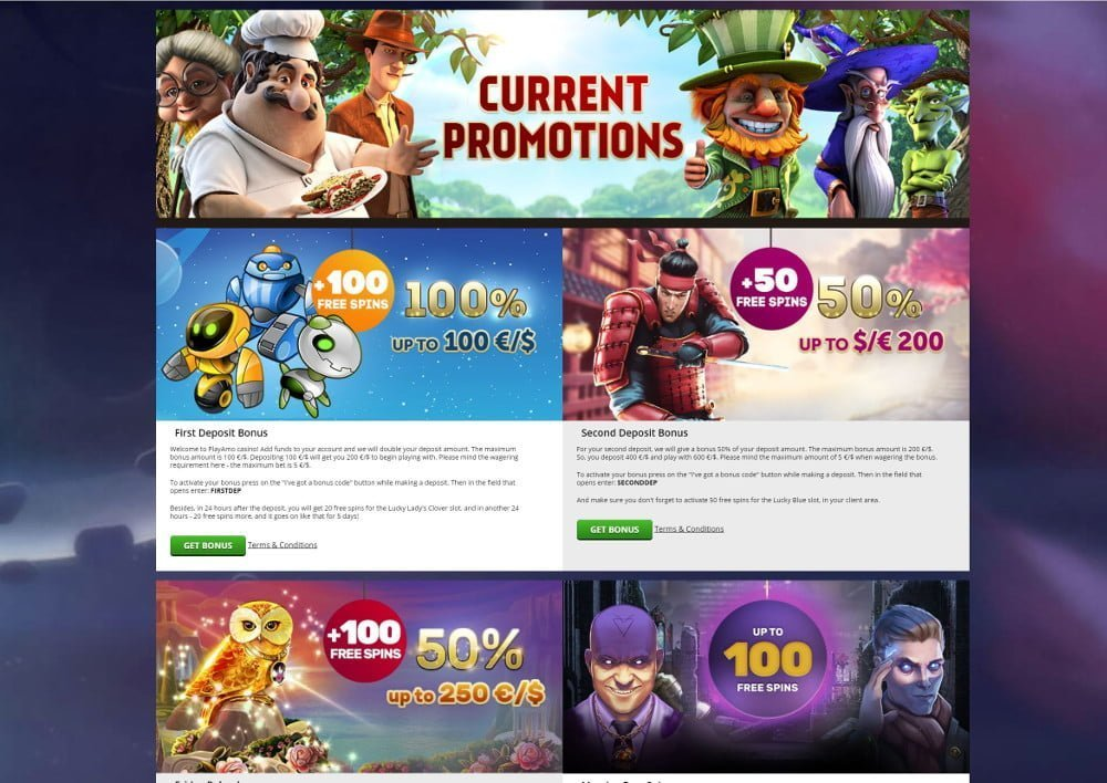 playamo casino bonus promotions