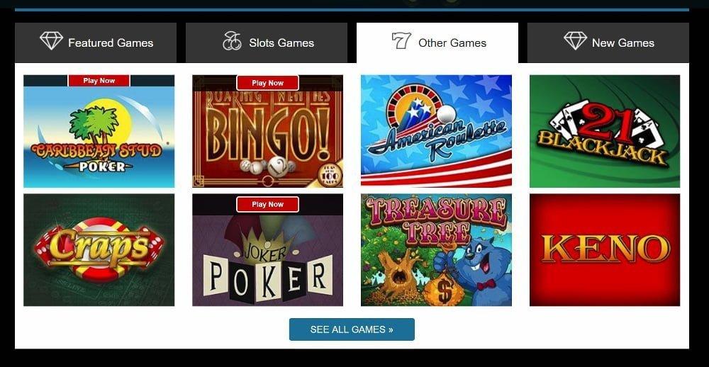 sloto cash casino table games