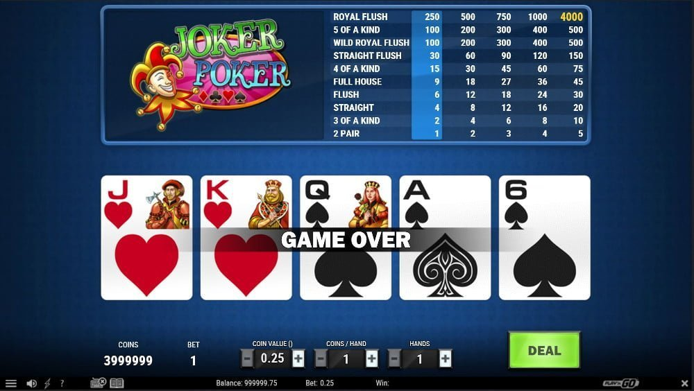 joker poker vider poker strategy