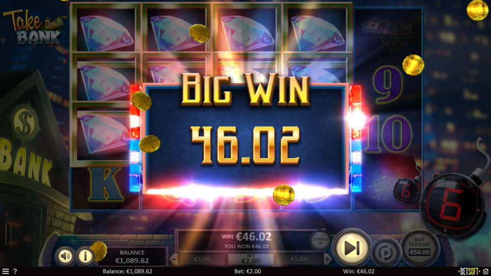 take the bank slot by betsoft