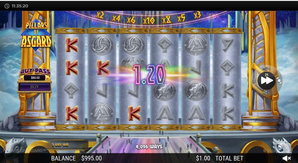 pillars of asgard slot by nextgen