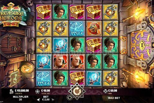 treasure heroes slot by rabcat