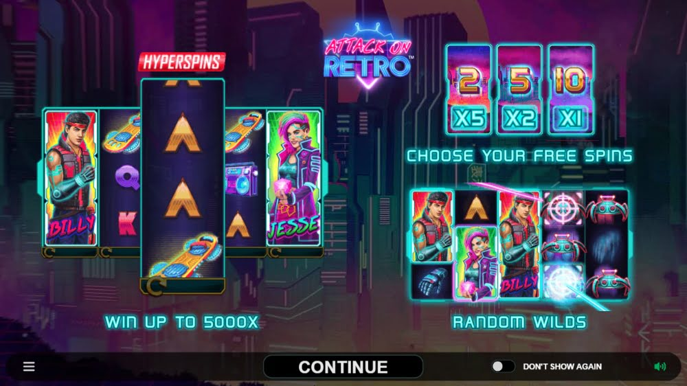 attack on retro slot by microgaming